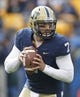 Nov 16, 2013; Pittsburgh, PA, USA; Pittsburgh Panthers quarterback Tom Savage (7) looks to pass against the North Carolina Tar Heels during the second quarter at Heinz Field. North Carolina won 34-27. Mandatory Credit: Charles LeClaire-USA TODAY Sports