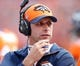 Oct 13, 2013; Denver, CO, USA; Denver Broncos offensive coordinator Adam Gase during the game against the Jacksonville Jaguars at Sports Authority Field at Mile High. Mandatory Credit: Chris Humphreys-USA TODAY Sports