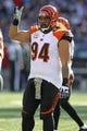 Nov 10, 2013; Baltimore, MD, USA;  Cincinnati Bengals nose guard Domeko Peko (94) in action against the Baltimore Ravens at M&T Bank Stadium. Mandatory Credit: Mitch Stringer-USA TODAY Sports