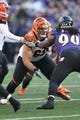 Nov 10, 2013; Baltimore, MD, USA;  Cincinnati Bengals guard Kevin Zeitler (68) in action against the Baltimore Ravens at M&T Bank Stadium. Mandatory Credit: Mitch Stringer-USA TODAY Sports