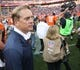 Oct 13, 2013; Denver, CO, USA; Denver Broncos defensive coordinator Jack Del Rio after the game against the Jacksonville Jaguars at Sports Authority Field at Mile High. Mandatory Credit: Chris Humphreys-USA TODAY Sports