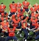 Nov 9, 2013; Tucson, AZ, USA; Arizona Wildcats defensive lineman Sione Tuihalamaka (91) leads his teammates in the Haka, a traditional ancestral war cry or dance, before the first quarter against the UCLA Bruins at Arizona Stadium. Mandatory Credit: Casey Sapio-USA TODAY Sports