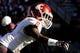 Nov 16, 2013; Tucson, AZ, USA; Washington State Cougars cornerback Damante Horton (6) looks to the sideline during the third quarter against the Arizona Wildcats at Arizona Stadium. The Cougars beat the Wildcats 24-17. Mandatory Credit: Casey Sapio-USA TODAY Sports