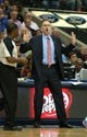 Nov 18, 2013; Dallas, TX, USA; Dallas Mavericks head coach Rick Carlisle throws his hands up as he reacts to call against the Philadelphia 76ers at American Airlines Center. Mandatory Credit: Matthew Emmons-USA TODAY Sports