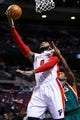 Nov 25, 2013; Auburn Hills, MI, USA; Detroit Pistons center Andre Drummond (0) is fouled by Milwaukee Bucks point guard Brandon Knight (11) in the third quarter at The Palace of Auburn Hills. Detroit won 113 to 94. Mandatory Credit: Rick Osentoski-USA TODAY Sports
