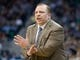 Nov 25, 2013; Salt Lake City, UT, USA; Chicago Bulls head coach Tom Thibodeau signals to his players during the second half against the Utah Jazz at EnergySolutions Arena. The Jazz won 89-83 in overtime. Mandatory Credit: Russ Isabella-USA TODAY Sports