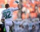 Nov 17, 2013; Miami Gardens, FL, USA; Miami Dolphins wide receiver Brian Hartline (82) is introduced before facing the San Diego Chargers at Sun Life Stadium. The Dolphins won the game 20-16. Mandatory Credit: Joe Camporeale-USA TODAY Sports