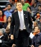 Nov 8, 2013; Phoenix, AZ, USA; Phoenix Suns head coach Jeff Hornacek during the second quarter against the Denver Nuggets at US Airways Center. Mandatory Credit: Casey Sapio-USA TODAY Sports