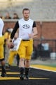 Nov 2, 2013; Columbia, MO, USA; Missouri Tigers quarterback Maty Mauk (7) warms up before the game against the Tennessee Volunteers at Faurot Field. Missouri won 31-3. Mandatory Credit: Denny Medley-USA TODAY Sports
