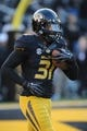 Nov 2, 2013; Columbia, MO, USA; Missouri Tigers defensive back E.J. Gaines (31) warms up before the game against the Tennessee Volunteers at Faurot Field. Missouri won 31-3. Mandatory Credit: Denny Medley-USA TODAY Sports