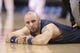 Nov 22, 2013; Toronto, Ontario, CAN; Washington Wizards center Marcin Gortat (4) stretches before playing against the Toronto Raptors at Air Canada Centre. The Raptors beat the Wizards 96-88. Mandatory Credit: Tom Szczerbowski-USA TODAY Sports