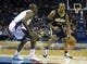 Nov 27, 2013; Charlotte, NC, USA; Indiana Pacers power forward David West (21) drives to the basket during the third quarter against the Charlotte Bobcats at Time Warner Cable Arena. Pacers won 99-74. Mandatory Credit: Joshua S. Kelly-USA TODAY Sports