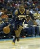 Nov 27, 2013; Charlotte, NC, USA; Indiana Pacers point guard C.J. Watson (32) drives to the basket during the third quarter against the Charlotte Bobcats at Time Warner Cable Arena. Pacers won 99-74. Mandatory Credit: Joshua S. Kelly-USA TODAY Sports