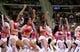 Nov 27, 2013; Auburn Hills, MI, USA; Detroit Pistons dance team performs during the third quarter against the Chicago Bulls at The Palace of Auburn Hills. Bulls beat the Pistons 99-79. Mandatory Credit: Raj Mehta-USA TODAY Sports