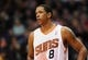 Nov 27, 2013; Phoenix, AZ, USA; Phoenix Suns forward Channing Frye (8) stands on the court during the second half against the Portland Trail Blazers at US Airways Center. The Suns won 120 -106. Mandatory Credit: Jennifer Stewart-USA TODAY Sports