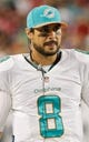 Nov 11, 2013; Tampa, FL, USA; Miami Dolphins quarterback Matt Moore (8) against the Tampa Bay Buccaneers during the second half at Raymond James Stadium. Mandatory Credit: Kim Klement-USA TODAY Sports