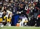 Nov 28, 2013; Baltimore, MD, USA; Baltimore Ravens wide receiver Jacoby Jones (12) catches a pass in front of Pittsburgh Steelers cornerback Cortez Allen (28) during a NFL football game on Thanksgiving at M&T Bank Stadium. Mandatory Credit: Evan Habeeb-USA TODAY Sports