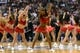 Nov 29, 2013; Philadelphia, PA, USA; Philadelphia 76ers dream team dancers perform during the second quarter against the New Orleans Pelicans at the Wells Fargo Center. The Pelicans defeated the Sixers 121-105. Mandatory Credit: Howard Smith-USA TODAY Sports