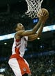 Nov 29, 2013; Toronto, Ontario, CAN; Toronto Raptors guard DeMar DeRozan (10) goes to make a basket against the Miami Heat at the Air Canada Centre. Miami defeated Toronto 90-83. Mandatory Credit: John E. Sokolowski-USA TODAY Sports