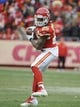 Nov 24, 2013; Kansas City, MO, USA; Kansas City Chiefs running back Jamaal Charles (25) catches a pass against the San Diego Chargers in the second half at Arrowhead Stadium. San Diego won 41-38. Mandatory Credit: John Rieger-USA TODAY Sports