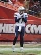 Nov 24, 2013; Kansas City, MO, USA; San Diego Chargers quarterback Philip Rivers (17) warms up before the game against the Kansas City Chiefs at Arrowhead Stadium. San Diego won 41-38. Mandatory Credit: John Rieger-USA TODAY Sports