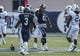 Nov 30, 2013; Houston, TX, USA; Rice Owls wide receiver Donte Moore (81) reacts after making a reception during the second quarter against the Tulane Green Wave at Rice Stadium. Mandatory Credit: Troy Taormina-USA TODAY Sports