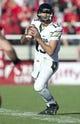 Nov 30, 2013; Salt Lake City, UT, USA; Colorado Buffaloes quarterback Sefo Liufau (13) drops back to pass during the second half against the Utah Utes at Rice-Eccles Stadium. Utah won 24-17. Mandatory Credit: Russ Isabella-USA TODAY Sports