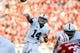 Nov 30, 2013; Madison, WI, USA; Penn State Nittany Lions quarterback Christian Hackenberg (14) throws a pass as his team plays the Wisconsin Badgers at Camp Randall Stadium. Penn State defeated Wisconsin 31-24. Mandatory Credit: Mary Langenfeld-USA TODAY Sports