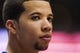 Nov 29, 2013; Philadelphia, PA, USA; Philadelphia 76ers guard Michael Carter-Williams (1) during the fourth quarter against the New Orleans Pelicans at the Wells Fargo Center. The Pelicans defeated the Sixers 121-105. Mandatory Credit: Howard Smith-USA TODAY Sports