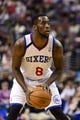 Nov 29, 2013; Philadelphia, PA, USA; Philadelphia 76ers guard Tony Wroten (8) during the first quarter against the New Orleans Pelicans at the Wells Fargo Center. The Pelicans defeated the Sixers 121-105. Mandatory Credit: Howard Smith-USA TODAY Sports