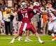 Nov 30, 2013; Columbia, SC, USA; South Carolina Gamecocks quarterback Connor Shaw (14) passes against the Clemson Tigers in the second half at Williams-Brice Stadium. Mandatory Credit: Jeff Blake-USA TODAY Sports