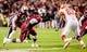 Nov 30, 2013; Columbia, SC, USA; South Carolina Gamecocks defensive end Jadeveon Clowney (7) rushes the quarterback against Clemson Tigers guard Tyler Shatley (62) in the second quarter at Williams-Brice Stadium. Mandatory Credit: Jeff Blake-USA TODAY Sports
