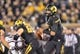Nov 30, 2013; Columbia, MO, USA; Missouri Tigers quarterback James Franklin (1) rolls to the outside against the Texas A&M Aggies during the second half at Faurot Field. Missouri defeated Texas A&M 28-21. Mandatory Credit: Peter G. Aiken-USA TODAY Sports