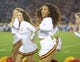 Nov 30, 2013; Los Angeles, CA, USA; Southern California Trojans song girls cheerleader Kayla Henry performs during the game against the UCLA Bruins at Los Angeles Memorial Coliseum. Mandatory Credit: Kirby Lee-USA TODAY Sports