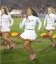 Nov 30, 2013; Los Angeles, CA, USA; Southern California Trojans song girl cheerleader Kayla Henry preforms during the game against the UCLA Bruins at Los Angeles Memorial Coliseum. Mandatory Credit: Kirby Lee-USA TODAY Sports