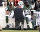 Dec 1, 2013; East Rutherford, NJ, USA; New York Jets head coach Rex Ryan talks with defensive back Aaron Berry (22) and cornerback Dee Milliner after a Miami Dolphins touchdown during the game at MetLife Stadium. Mandatory Credit: Robert Deutsch-USA TODAY Sports