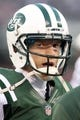 Dec 1, 2013; East Rutherford, NJ, USA; New York Jets quarterback Matt Simms (5) on the sidelines during the fourth quarter of a game against the Miami Dolphins at MetLife Stadium. The Dolphins defeated the Jets 23-3. Mandatory Credit: Brad Penner-USA TODAY Sports