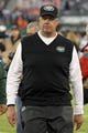 Dec 1, 2013; East Rutherford, NJ, USA; New York Jets head coach Rex Ryan walks off the field after losing to the Miami Dolphins 23-3 following a game at MetLife Stadium. Mandatory Credit: Brad Penner-USA TODAY Sports