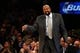 Dec 1, 2013; New York, NY, USA;  New York Knicks head coach Mike Woodson during the third quarter against the New Orleans Pelicans at Madison Square Garden. New Orleans Pelicans won 103-99.  Mandatory Credit: Anthony Gruppuso-USA TODAY Sports