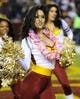 Dec 1, 2013; Landover, MD, USA; Washington Redskins cheerleaders perform against the New York Giants during the second half at FedEx Field. The Giants won 24 - 17. Mandatory Credit: Brad Mills-USA TODAY Sports