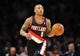 December 1, 2013; Los Angeles, CA, USA; Portland Trail Blazers point guard Damian Lillard (0) moves the ball up court against the Los Angeles Lakers during the first half at Staples Center. Mandatory Credit: Gary A. Vasquez-USA TODAY Sports