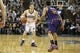 Nov 19, 2013; Sacramento, CA, USA; Sacramento Kings point guard Jimmer Fredette (7) looks to the basket against Phoenix Suns shooting guard Gerald Green (14) during the fourth quarter at Sleep Train Arena. The Sacramento Kings defeated the Phoenix Suns 107-104. Mandatory Credit: Kelley L Cox-USA TODAY Sports