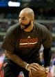 Nov 27, 2013; Auburn Hills, MI, USA; Chicago Bulls power forward Carlos Boozer (5) warms up before the game against the Detroit Pistons at The Palace of Auburn Hills. Bulls beat the Pistons 99-79. Mandatory Credit: Raj Mehta-USA TODAY Sports