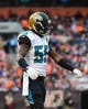 Dec 1, 2013; Cleveland, OH, USA; Jacksonville Jaguars outside linebacker Geno Hayes (55) against the Cleveland Browns at FirstEnergy Stadium. Mandatory Credit: Andrew Weber-USA TODAY Sports