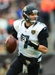 Dec 1, 2013; Cleveland, OH, USA; Jacksonville Jaguars quarterback Chad Henne (7) against the Cleveland Browns at FirstEnergy Stadium. Mandatory Credit: Andrew Weber-USA TODAY Sports