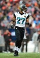 Dec 1, 2013; Cleveland, OH, USA; Jacksonville Jaguars cornerback Dwayne Gratz (27) against the Cleveland Browns at FirstEnergy Stadium. Mandatory Credit: Andrew Weber-USA TODAY Sports