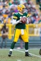 Nov 24, 2013; Green Bay, WI, USA; Green Bay Packers quarterback Matt Flynn (10) during the game against the Minnesota Vikings at Lambeau Field.  The Vikings and Packers tied 26-26.  Mandatory Credit: Jeff Hanisch-USA TODAY Sports