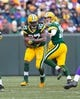 Nov 24, 2013; Green Bay, WI, USA; Green Bay Packers running back Eddie Lacy (27) during the game against the Minnesota Vikings at Lambeau Field.  The Vikings and Packers tied 26-26.  Mandatory Credit: Jeff Hanisch-USA TODAY Sports