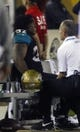 Dec 5, 2013; Jacksonville, FL, USA; Jacksonville Jaguars running back Maurice Jones-Drew (32) is tended to after injuring himself running in the fourth quarter against the Houston Texans at EverBank Field. The Jacksonville Jaguars best the Houston Texans 27-20. Mandatory Credit: Phil Sears-USA TODAY Sports