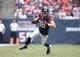 Dec 1, 2013; Houston, TX, USA; Houston Texans tight end Garrett Graham (88) runs after a reception against the New England Patriots at Reliant Stadium. Mandatory Credit: Matthew Emmons-USA TODAY Sports